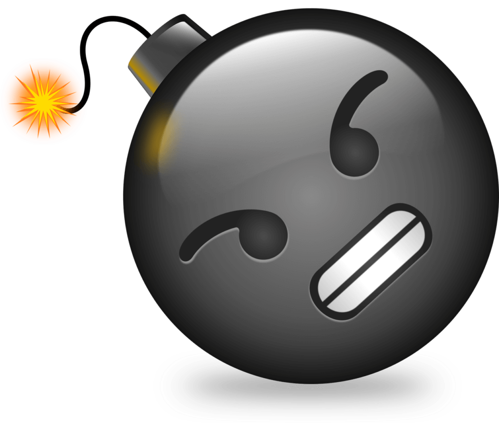怒りの爆発